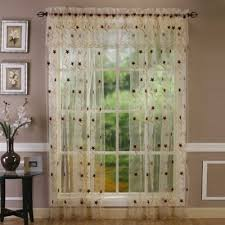Cream Embroidered Curtains Buy Embroidered Curtain Sheers From Bed Bath U0026 Beyond