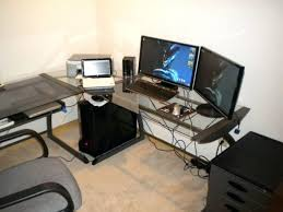 Dual Monitor Gaming Desk Desk Good Desk For 2 Monitors Computer Desk Made For 2 Monitors