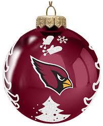 memory company arizona cardinals glass tree ornament