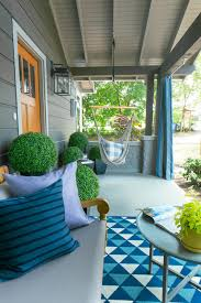 Front Porch Topiary Eclectic Home Tour Hgtv Urban Oasis