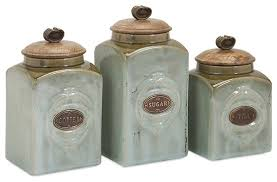 kitchen jars and canisters kitchen canisters blue free american atelier blue and gold