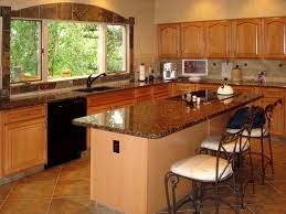 cute brown color travertine tiles kitchen floor come with grid
