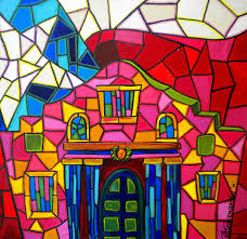 texas flag painting alamo mosaic two by patti schermerhorn