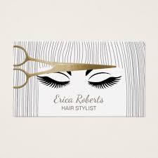 Business Cards Hair Stylist Hair Stylist Gold Scissor U0026 Hair Salon Business Card Zazzle Com