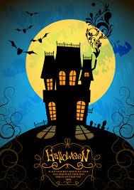 halloween horror poster vector free vector 4vector