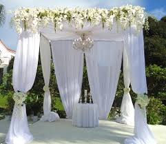 wedding ceremony canopy la costa wedding four seasons flowers