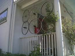 Trellis As Privacy Screen Bicycle Tire Rim Trellis For Your Porch As A Privacy Screen Diy