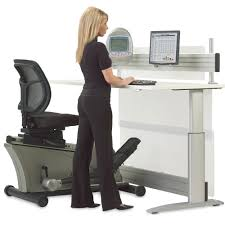 Sit Stand Treadmill Desk by Elliptical Machine Adjustable Height Desk The Green Head