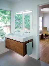 72 double sink vanity bathroom contemporary with bamboo cabinetry