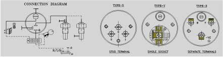 veethree temperature gauges oil pressure gauges electrical