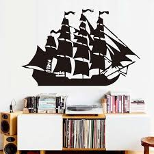 Nursery Wall Decorations Removable Stickers Aliexpress Buy Free Shipping Pirate Ship Wall Decals