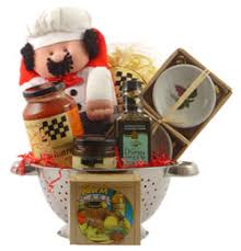 pasta basket dinner and desert gift basket by personalized gift baskets