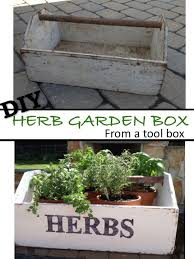 how to build an herb garden two it yourself diy herb garden box from an old toolbox pottery