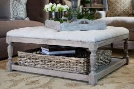 Wicker Storage Ottoman Coffee Table Ottoman Coffee Tables Large Square Coffee Table Square Coffee
