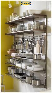 kitchen shelf storage ikea kungsfors stainless steel ash suspension rail with shelf