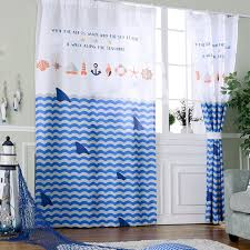 Shark Bedroom Curtains Blackout Curtains For Bedroom Boys Window Panels Shark