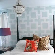 geometric wall stencil design ideas
