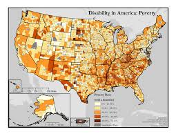 Map Of Orange County Map Of Disability And Poverty Disability In America Map Series