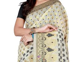 fancy casual buy alluring fancy casual style black silk traditional saree at