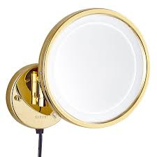 amazon com gurun led lighted wall mount makeup mirror with 10x