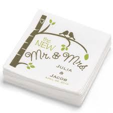 printed wedding napkins rustic birds personalized napkin 100 pcs personalized