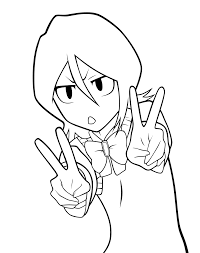8 images of bleach rukia coloring pages bleach coloring pages