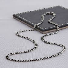 mens chains necklace images Sterling silver men 39 s curb chain necklace by hurleyburley man jpg