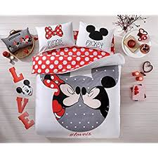 Queen Minnie Mouse Comforter Amazon Com Mickey And Minnie Mouse King Queen Adults Cartoon