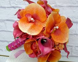 Wedding Flowers Ri Destination Wedding Flowers Orange Tiger Lily Bridal Bouquet