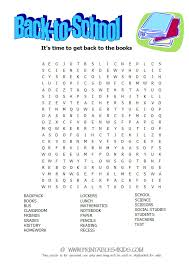 back to word search printables for kids u2013 free word