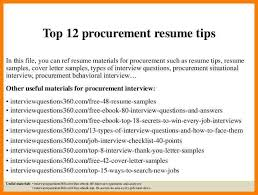 procurement resume 8 procurement resumes precis format