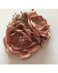 flower hair clip here s a great price on gold large hair clip fabric flower