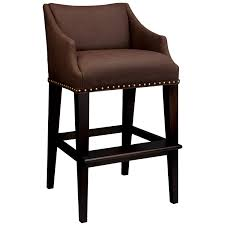 Brown Leather Bar Stool Kitchen Accessories Furniture Brown Leather Bar Stool With White
