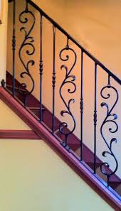 Wrought Iron Banister Good Looking Interior Wrought Iron Railings Feature Black Stained