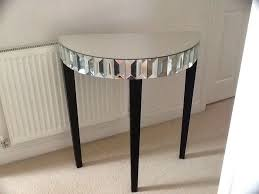 Half Moon Side Table Mirrored Half Moon Console Table Console Table Demilune Half