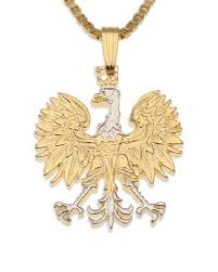 polish eagle pendant u0026 necklace poland 10 zlotych hand cut coin