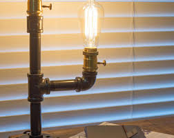 iron pipe lamp etsy