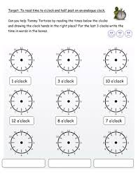 o u0027clock and half past editable worksheets by pandapop25 teaching