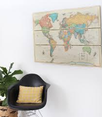 World Map Wood Wall Art by Stylish Decoration Map Wall Decor Stunning Ideas Vintage Wall