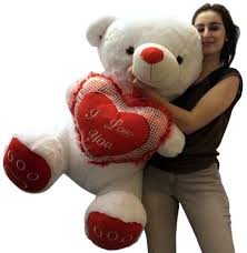big valentines day teddy bears valentines day teddy soft white oversized plush holds i