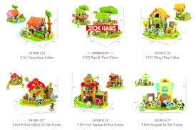 3d puzzle kayu robotime cabin house series elevenia