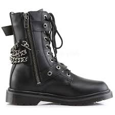 mens motorcycle sneakers chain accented mens combat boot defiant 204 demonia unisex boots
