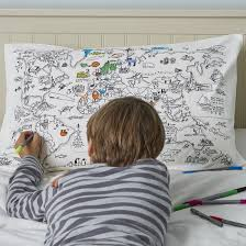 World Map Bedding Colour U0026 Learn World Map Cotton Pillowcase With Wash Out Fabric