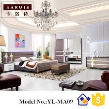 exotic bedroom 2017 new design exotic bedroom furniture maharaja bed set with led