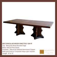 Distressed Pedestal Dining Table Rectangular Dining Table Wood Pedestal Chocolate Distressed Finish