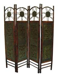 7ft Room Divider by Oriental Elephant U0026 Bamboo Room Divider Chairish