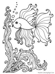 animals photo pic fish coloring pages for adults at best all