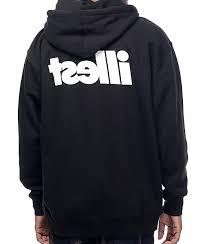 illest bold black zip up hoodie zumiez