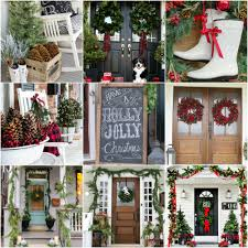 Beautifully Decorated Homes For Christmas 20 Beautiful Christmas Porch Ideas Diy Christmas Decorating