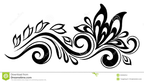 black white design beautiful floral element black and white flowers and leaves